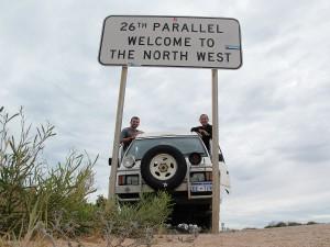 Durchquerung des 26 Breitengrades in Nord West Australien