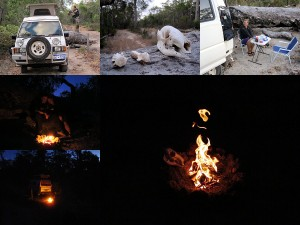Lagerfeuer in Australischen Busch Reisebericht 2011