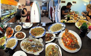 Tolles Essen und Menschen auf Bali