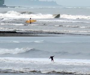 Auf Bali Wellenreiten Surfen