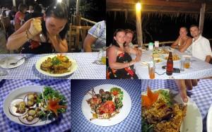 Meeresfrüchte Essen auf der Koh Chang Insel