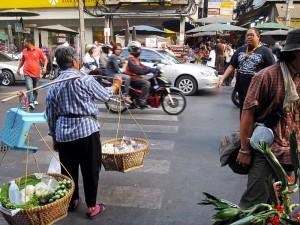 Besuch in Chinatown in Bangkok Thailand Urlaub Städetrip