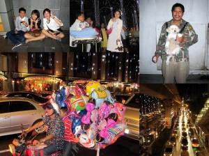 Nachtleben auf den Straßen von Bangkok
