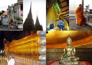 Weltreise Blog - Bangkok Wat Pho der liegende Buddha