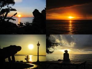 Sonnenuntergang in Kep in Kambodscha