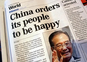 China orders its people to be happy