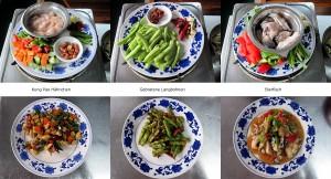 Bilder vom Kochkurs in China Yangshuo