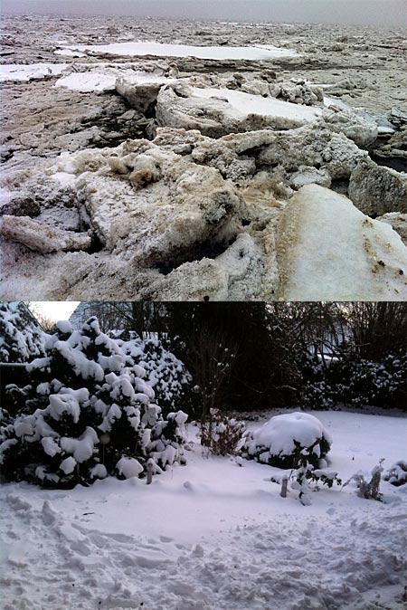 Schneelandschaften Deutschland 2010