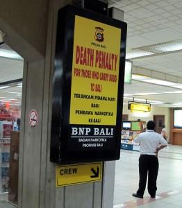Bitte keine Drogen auf Bali, sonst heißt es schnell: KOPF AB!