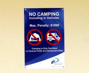 Wild Campen kostet bis zu 1000 Dollar in West Australien