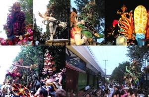 Nyepi auf Bali mit Ogoh-Ogohs