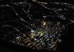 Perth West Australien aus dem Flugzeug von oben Foto