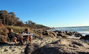 Der schönste Ort der Welt um zu Frühstücken: Am Strand in Australien