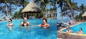 Urlaub in Thailand Insel Koh Chang Pool Palmen Meer Strand